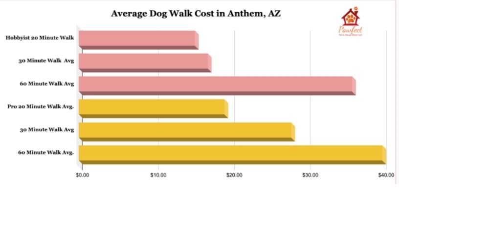 What is the average cost of a dog walk in Anthem, Arizona